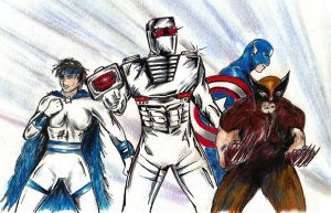 ROM Sabra Wolverine Captain America team up by csuhsux