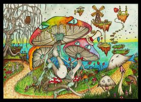 Mushroom Monster by the sea. by AstralMimi