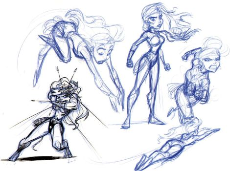 Older WonderWoman sketches pt2 by tombancroft