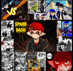 Drawing Gift Collage to Spark Dash! by Trying-to-Draw