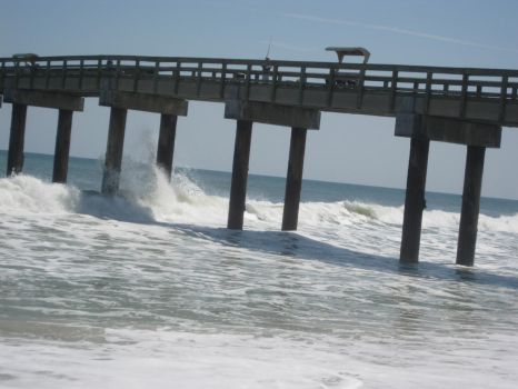 Free stock Surf Waves Ocean Pier by SilverRiverStock