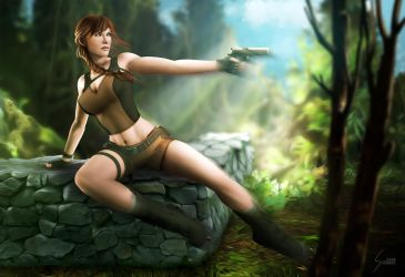 Lara Croft, Tomb Raider by EverHobbes