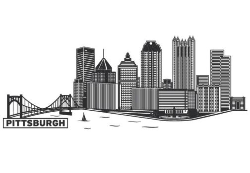 Pittsburgh Cityscape by wall-decal-shop