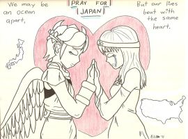 Pit and Emma: Pray for Japan by hotcheeto89