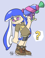 Splatoon 2 - A Random Girl with a Random Gun by Mano-Lon