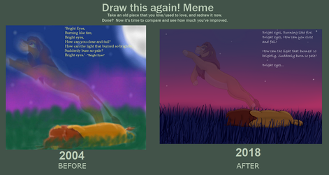 Simba's Spirit_Before and After meme by SolitaryGrayWolf