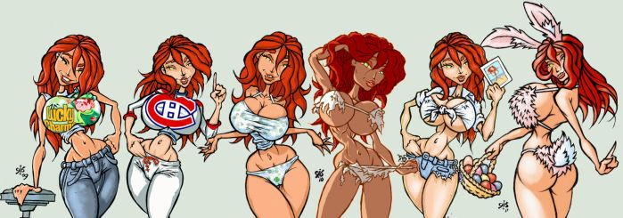 A bunch of Molly's 2009-2011 by PinupsByGib