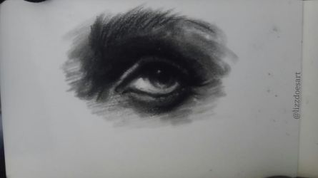 Eye Sketch - Charcoal by LizzVisions