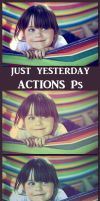 Just yesterday    Action Ps by Laurent-Dubus