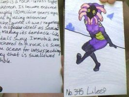 Lileep Pokedex Entry