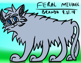 Michael in Feral Form! by brandofrangipani