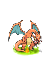 Charizard the Predator Colored by TyrianRay