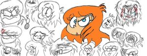 Sonia's expression sketches by Mr-Toontastic