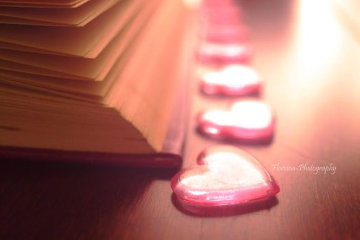 Row of Hearts by Floreina-Photography