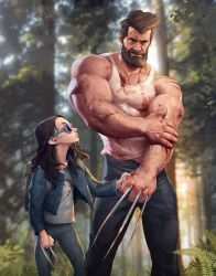 Logan and Laura by silverjow