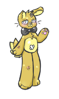 (FNAF 3) Bandaid Bonnie/Golden Bonnie by royalraptors