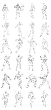 male poses chart 02 by THEONEG