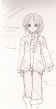 Katniss Everdeen sketch by featheredwings