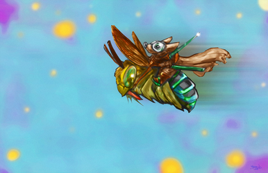 Moussassin Bumble Bee Brigade Alt by NoahBDesign
