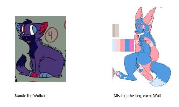Two new characters by GenderFurry