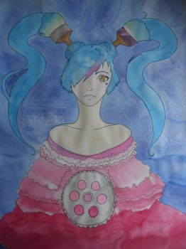 Miku Out of the Blue by xXx-Blood-Orchid-xXx