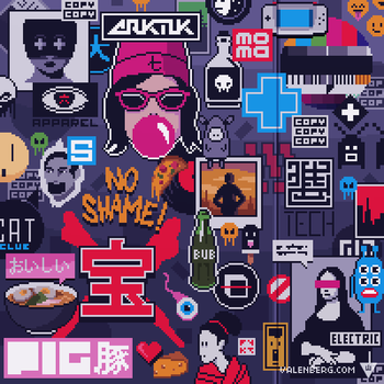 Sticker wall (1/4) by Valenberg
