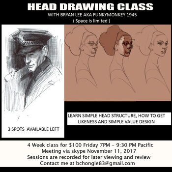Head Drawing Flyer by FUNKYMONKEY1945