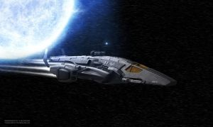 Space Gunship Second view by TuranicRaider