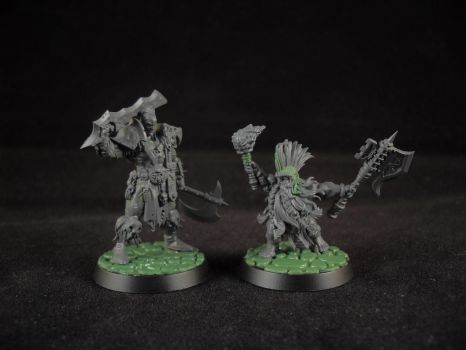 Mordheim Pit Fighter and Troll Slayer WIP by BrewBadum