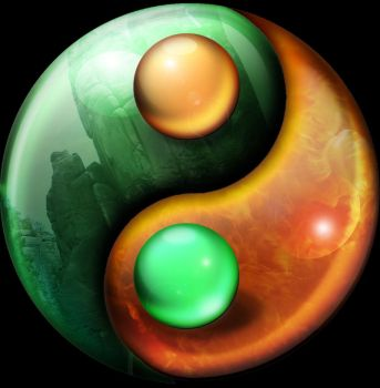 Ying Yang fire and Earth by Orsus