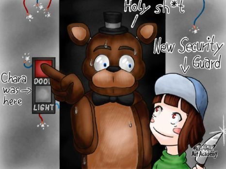 The new Security Guard in FNaF by Comika-Chan