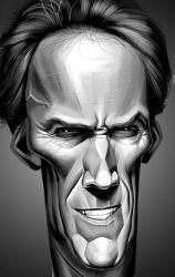clint eastwood caricature by chngch