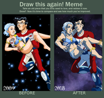 Tek and the Daily Girl 2009 vs 2018 by ErinPtah