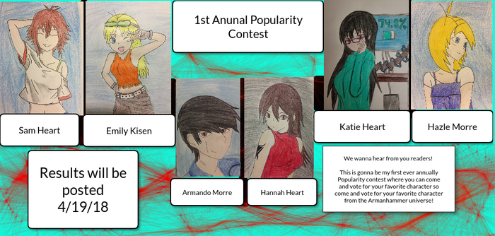 First Annual Popularity Competition! by SuperiorArmanhammer