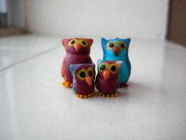 The Owl Family by clayfriends
