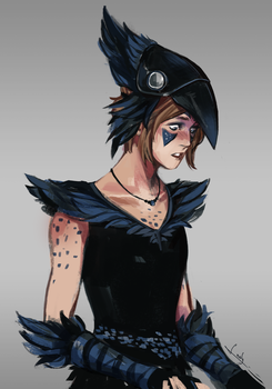 Punk bird by lesly-oh