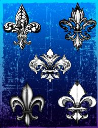 Fleur de Lis Brushes by BLACKSTAR1284