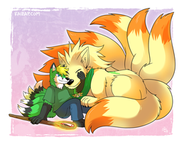 [Commission] Kitsune Nuzzle by raizy