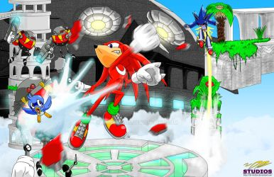 Knuckles in Sky Sanctuary by DR-Studios