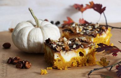 Pumpkin cheesecake with caramel and chocolate by Kluschi