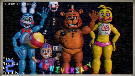 [FNAF/C4D/EVENT] HAPPY ANNIVERSARY FNAF2! [Late] by CaramelloProductions