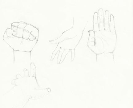 Sketches 02: Hands by BlackStar2661
