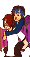 Request - Does Enderlox Even Like Piggyback Rides? by 1WebRainbowe1