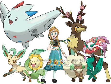 Anna - Pokemon Style (With Team) by Tails19950
