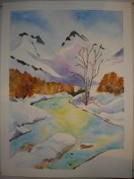 Watercolor: around the riverbed by mari6s