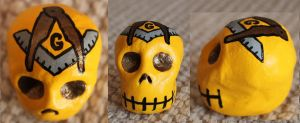 Masonic Sugar Skull 73 SOLD by angelacapel