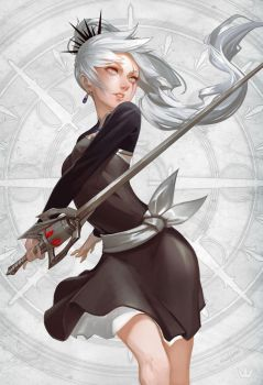 Weiss - Flawless Huntress by NikuSenpai