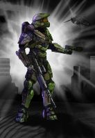 Halo 4 Master chief Color study by LordKaniche