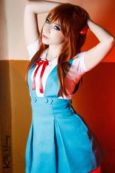 Asuka Soryuu Langley - School Uniform cosplay by Kitty-Honey
