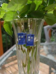 Tardis Earrings by kotoronoloo